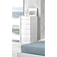 J&M Amora 6 Drawer Chest in White Lacquer 17869-C