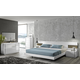 J&M Amora Platform Bedroom Set in White Lacquer