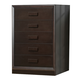 J&M Boston 5 Drawer Chest in Espresso 1754427-C