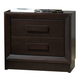 J&M Boston 2 Drawer Nightstand in Espresso 1754427-NS