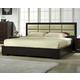 J&M Boston Queen Java Platform Bed in Espresso 1754427-Q