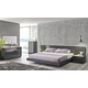 J&M Braga Platform Bedroom Set in Grey Lacquer