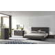 J&M Faro Platform Bedroom Set in Grey Lacquer