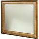 American Drew Grove Point Landscape Mirror in Warm Khaki/ Chocolate 314-020