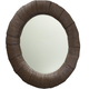 American Drew Grove Point Round Mirror in Warm Khaki/ Chocolate 314-040 CODE:UNIV20 for 20% Off