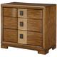 American Drew Grove Point 3 Drawer Nightstand in Warm Khaki/ Chocolate 314-420