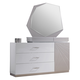 J&M Florence Dresser and Mirror in White and Taupe 17852-DM