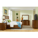 American Drew Grove Point 4 Piece Raffia Panel Bedroom Set in Sand