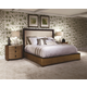 American Drew Grove Point 4 Piece Upholstered Panel Bedroom Set in Sand