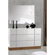 J&M Madrid Mirror in Walnut and White 179321-M
