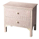 Butler Specialty Bone Inlay Two Large Drawer Accent Chest in Heritage Pink 3224070