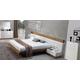 J&M Madrid Platform Bedroom Set in Walnut and White