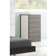J&M Maia 6 Drawer Chest in Light Grey and Wenge 17867221-C