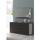 J&M Maia 4 Drawer Dresser in Light Grey and Wenge 17867221-D
