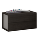 J&M Maia 2 Drawer Nightstand in Light Grey and Wenge 17867221-NS