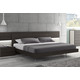 J&M Maia Queen Platform Bed in Light Grey and Wenge 17867221-Q