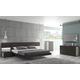 J&M Maia Platform Bedroom Set in Light Grey and Wenge