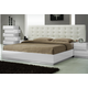 J&M Milan Queen Platform Bed in White Lacquer 17687-Q