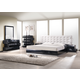 J&M Milan Platform Bedroom Set in Black Lacquer