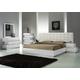 J&M Milan Platform Bedroom Set in White Lacquer