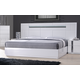 J&M Palermo King Bed in White Lacquer and Chrome 17853-K