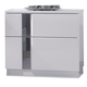J&M Palermo 2 Drawer Nightstand in White Lacquer and Chrome 17853-NS