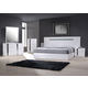 J&M Palermo Bedroom Set in White Lacquer and Chrome