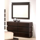 J&M Knotch Dresser and Mirror in Expresso 1754426-DM