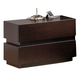 J&M Knotch 2-Drawer Nightstand in Expresso 1754426-NS