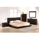 J&M Knotch Panel Bedroom Set in Expresso