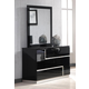 J&M Lucca Dresser and Mirror in Black Lacquer 17685-DM