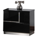 J&M Lucca Right Facing Nightstand in Black Lacquer 17685-NSR