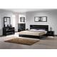 J&M Lucca Platform Bedroom Set in Black Lacquer