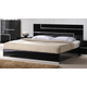 J&M Lucca Queen Platform Bed in Black Lacquer 17685-Q