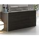 J&M Furniture Porto 4 Drawer Dresser in Light Grey and Wenge 17867-D