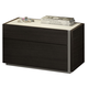 J&M Furniture Porto 2 Drawer Nightstand in Light Grey and Wenge 17867-NS