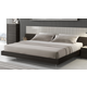 J&M Furniture Porto Queen Platform Bed in Light Grey and Wenge 17867-Q