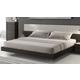 J&M Furniture Porto King Platform Bed in Light Grey and Wenge 17867-K