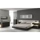 J&M Furniture Porto Platform Bedroom Set in Light Grey and Wenge