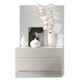 J&M Seville Right Facing Nightstand in White Lacquer 1793211-NSR
