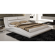 J&M Wave King Curve Panel Bed in White 178361-K