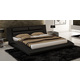 J&M Wave Queen Curve Panel Bed in Black 17836-Q