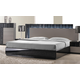 J&M Furniture Roma Queen Platform Bed in Black & Grey Lacquer 17777-Q