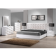 J&M Verona Platform Bedroom Set in White Lacquer