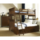 Legacy Classic Kids Big Sur 4 Piece Bixby Bunk Bedroom Set in Saddle Brown