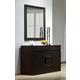 J&M Furniture Zen Dresser and Mirror in Black 1754428-DM