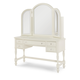 Legacy Classic Kids Harmony Desk with Vanity Mirror in Antique Linen White 4910-6100-6201