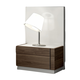 J&M Furniture Lisbon Nightstand in White/Beige/Walnut 17871-NS