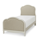 Legacy Classic Kids Harmony Twin Victoria Upholstered Panel Bed in Antique Linen White 4910-4803T