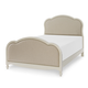 Legacy Classic Kids Harmony Full Victoria Upholstered Panel Bed in Antique Linen White 4910-4804F